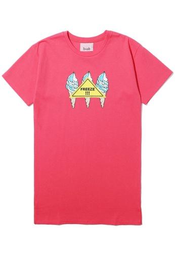 b+ab pink Freeze tee F91D5AA7BA8D38GS_1