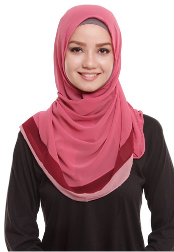 Mybamus Blended Plain Colour Pashmina Dusty Pink List Maroon Pink