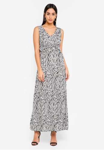 Vero Moda navy Molly Maxi Dress D6E8BAA9D32A0BGS_1