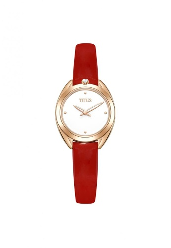 Solvil et Titus red Ring & Knot Women's 2 Hands Quartz Silver White Dial and Red Leather Strap 6BE9AAC3188B3AGS_1