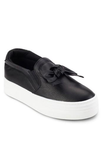 抓褶蝴蝶結皮革厚底懶人鞋, esprit 衣服女鞋, 鞋