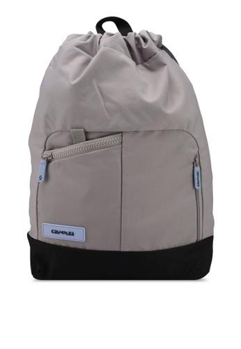 CRUMPLER grey and brown Sirius Drawstring Backpack B7F87AC2884251GS_1