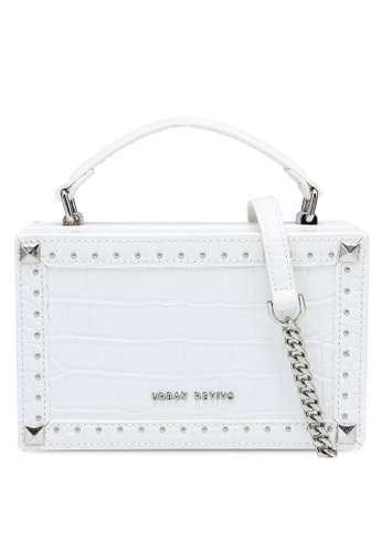 URBAN REVIVO white Boxy Top Handle Bag 2F50FACC57D32CGS_1