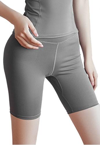 Sunnydaysweety grey High Waist Stretch Bike Shorts A081023GY E7FEEAA2594FB7GS_1