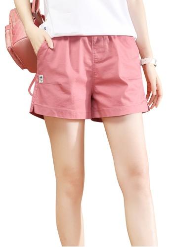 A-IN GIRLS pink Elastic Waist Casual Shorts 96384AA9986E56GS_1