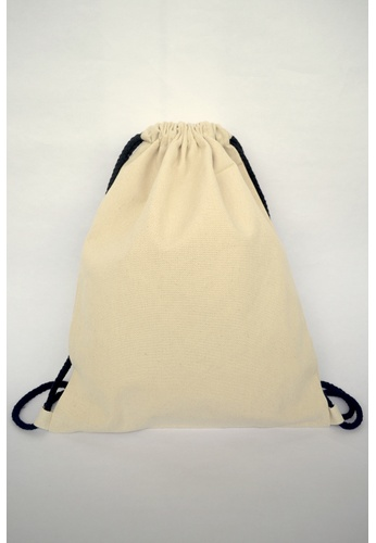 The Twinees white White with Black Drawstring Bag TH572AC01BFESG_1