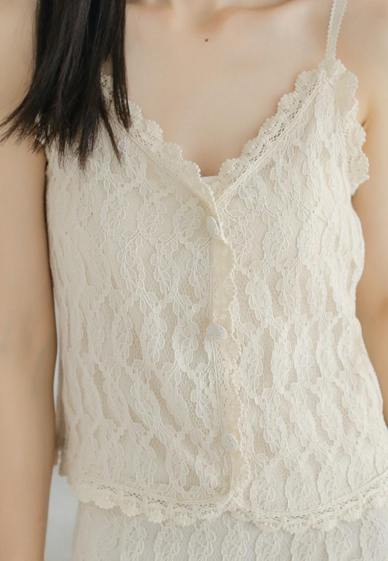 in Shopsfashion Crochet Beige Beige Blouse wXxvXn1