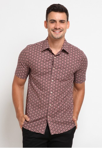 The Executive red Printed Short Sleeves Shirt 2D2D1AA2DF4087GS_1