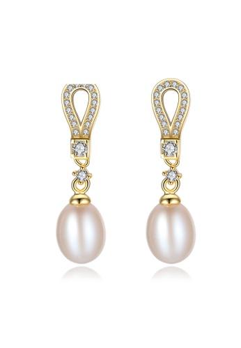 A.Excellence white Premium White Pearl Elegant Earring A3B00ACB9250F5GS_1
