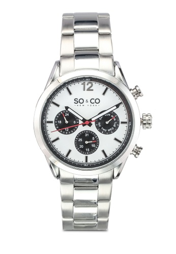 SO&CO white and silver Monticello Watch 5004 SO540AC0SHLFMY_1