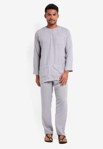 Lubna grey Baju Melayu Teluk Belanga B0D23AA68A1805GS_1