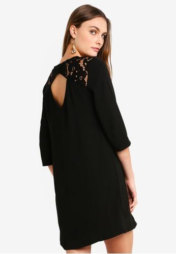 Vero Moda black Ricky 3/4 Short Dress DE31EAA0469C7DGS_1