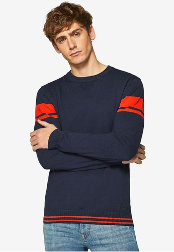 ESPRIT multi and navy Long Sleeve Sweater 60640AA96F01BDGS_1