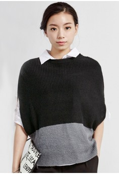Knit Blocking Ribbed Top