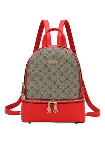 PLAYBOY BUNNY red Monogram Backpack F739AAC803D1E3GS_1