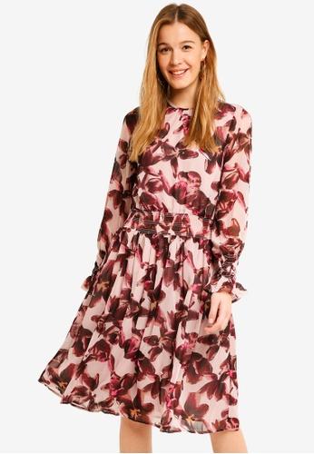 Y.A.S purple Dahlia Long Sleeve Dress 9AD21AAC27B75EGS_1
