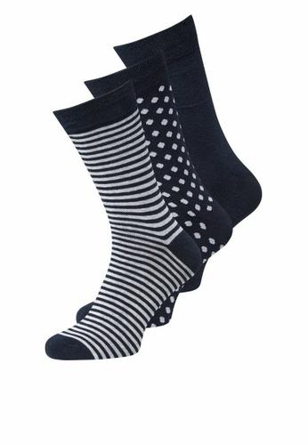 Jack & Jones navy 3 Packs Organic Socks B3BA4AA65B601AGS_1