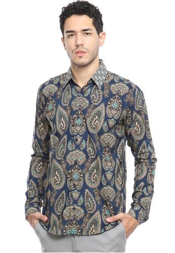 Flike Batik multi Kemeja Batik Tangan Panjang Motif Rashasti Yudistira 29E20AA80F2FACGS_1
