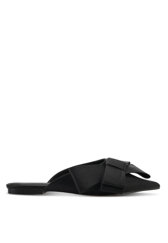 Something Borrowed black Bow Slip-on Flats 20574ZZ114129AGS_1