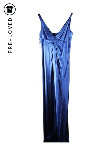 Amanda Wakeley blue Pre-Loved amanda wakeley Deep V Floor Length Gown 5071DAAE26AD24GS_1