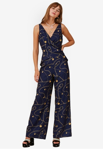 Finders Keepers navy Chains Jumpsuit 9AEF0AA79FD3A5GS_1