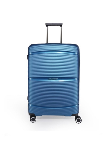 """Lushberry blue Plasmalite Hardcase Cabin size Luggage-24"""" FC0D7AC8607CFDGS_1"""