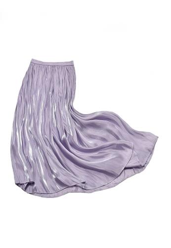 Twenty Eight Shoes purple VANSA Pearly Yarn Pleated Skirt VCW-Sk18588 5C2BAAA77F2DF0GS_1
