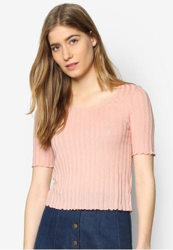 荷葉飾針織TEE、 服飾、 T-shirtTOPSHOP荷葉飾針織TEE最新折價