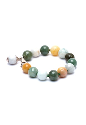 Celline Silver multi Old Jade Beads Bracelet 44A79ACCB3C679GS_1