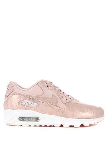 Nike beige Womens Nike Air Max 90 Premium Shoes 69E2CSHCEDD59CGS1