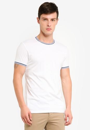 ESPRIT white and multi Short Sleeve T-Shirt 89E5BAAE73B2FBGS_1