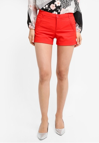 Mango red Rolled-Up Hem Shorts MA193AA0T1JQMY_1