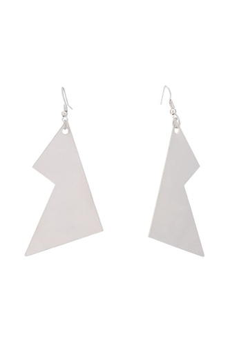 Saturation silver Clyde Statement Earrings F9C18ACF1B0878GS_1