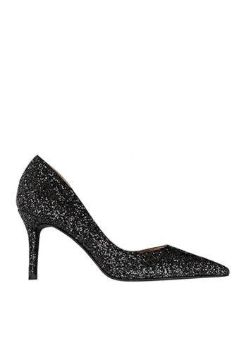 Twenty Eight Shoes black Unilateral Open Sequins Evening and Bridal Shoes VP88621 8DFECSH3A1495EGS_1