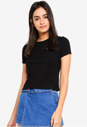 6IXTY8IGHT black Basic Ribbed T-Shirt 2D8CDAACB53997GS_1