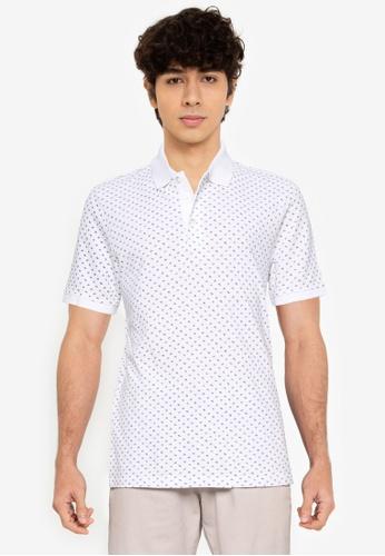 LC Waikiki white Polo Neck Printed Shirt 06944AABB07460GS_1