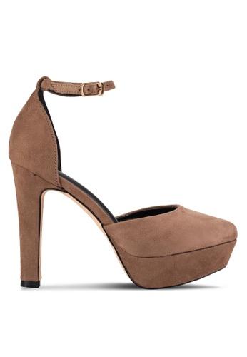 Sunnydaysweety 褐色 新款奧賽束帶高跟鞋 RA10117BW 81D52SHE262477GS_1