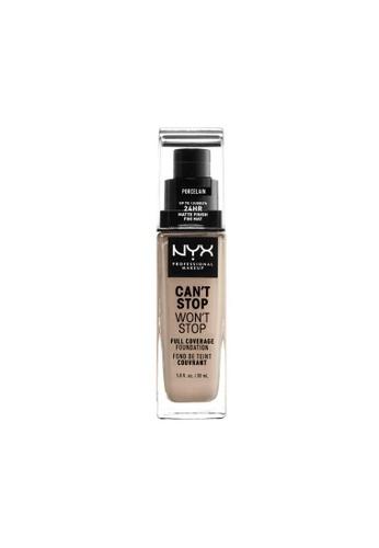 NYX Professional Makeup brown NYX Professional Makeup Can't Stop Won't Stop 24HR Foundation - PORCELAIN EBA22BECFDEB85GS_1