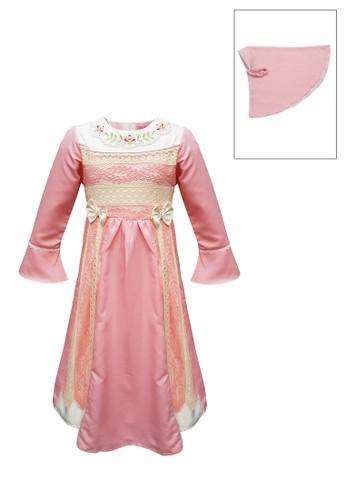 INFINE pink Muslim Dress Anak Esm 217 6/12 33AC3KA906893FGS_1