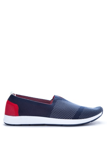 Paez red and navy Pulse Men's Sneakers PA524SH10IYNPH_1