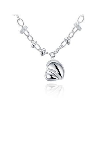 Glamorousky silver Fashion Heart Necklace 37290AC1A09558GS_1