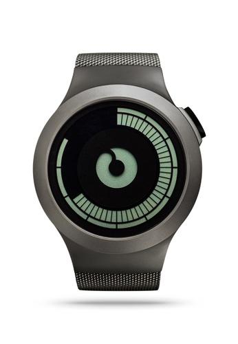 ZIIIRO grey Saturn Gunmetal Watch 2646AAC8A5347FGS_1