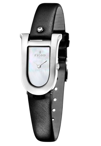 Fjord black Fjord Women's Genuine Leather Watch - FJ-6022-02 A4685ACACB2427GS_1