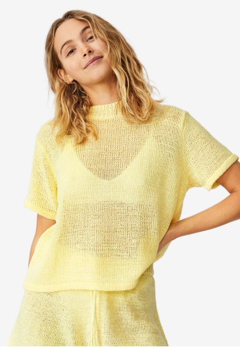 Cotton On Body yellow Summer Lounge T-Shirt 3FB6DAAD8AB47AGS_1