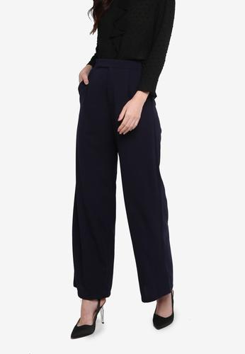 ZALORA WORK navy High Waist Wide Leg Trousers 09BD4AA3901812GS_1