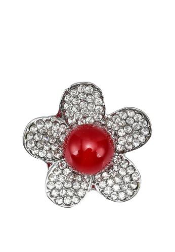 Red's Revenge red Blossom Bead Brooch 38301AC167DD3DGS_1