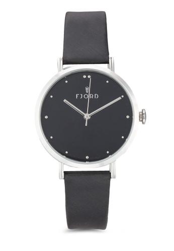 Dotta簡約皮革圓框手錶, 錶類, 飾品zalora taiwan 時尚購物網配件