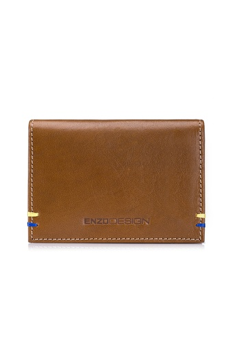 ENZODESIGN brown Italian Leather Card Holder BF212ACFEEC6A3GS_1