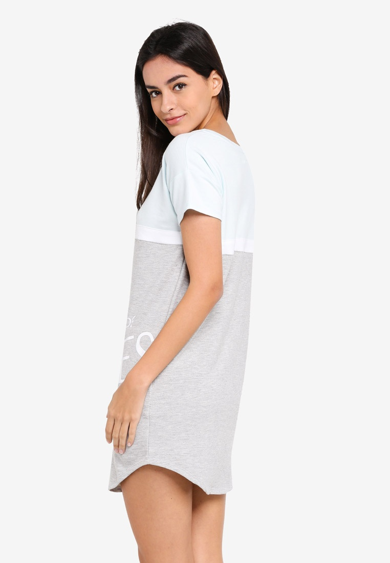 Dress Colour 'Good Vibes' 6IXTY8IGHT Night Grey Block PAwfq