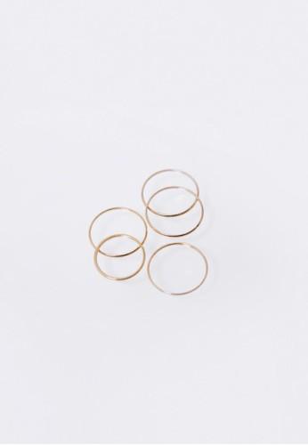 極細戒指五esprit高雄門市件組, 飾品配件, 戒指